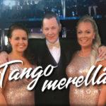 Johanna Pakonen, Kari Hirvonen ja Johanna Debreczeni tähdittävät Tango merellä -showta