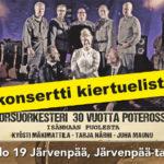 Järvenpää-talo mukaan Korsuorkesteri 30 vuotta poterossa -kiertueelle